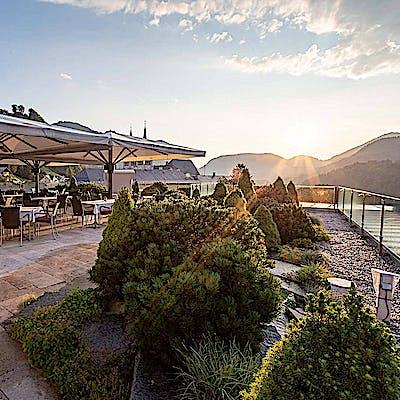 Edelweiss Panorama Café Restaurant Dachterrasse
