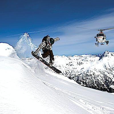 Titelbild für Abheben zum Heliskiing am Arlberg!