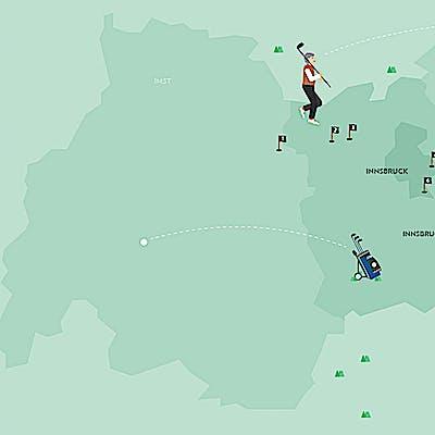 Titelbild für Golfplätze rund um Innsbruck