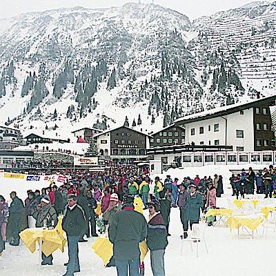 C Gemeindearchiv Lech 1993 12 22 Super G Herren Lech Foto Felix Weishaupl 55 Weltcup Lech c Felix Weishaupl Gemeindearchiv Lech