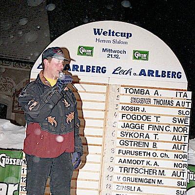 C Gemeindearchiv Lech 1994 12 Herren Slalom Lech Foto Felix Weishaupl 3 Weltcup Lech c Felix Weishaupl Gemeindearchiv Lech